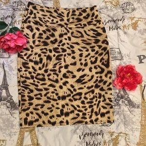 LulaRoe Leopard Animal Print Pencil Cassie Skirt